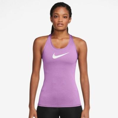 ナイキ カットソー トップス レディース Nike Women's Dri-FIT Swoosh Training Tank Top Purple Bright 01