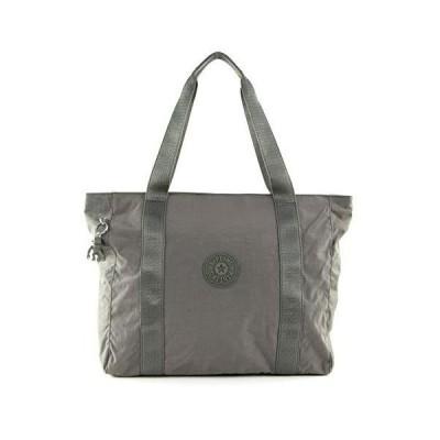 Kipling ASSENI Canvas & Beach Tote Bag, 49 cm, 20 liters, Green (Seagrass) 並行輸入品