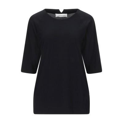 ランベルト・ロザーニ LAMBERTO LOSANI T シャツ ブラック 40 コットン 92% / ポリウレタン 8% T シャツ