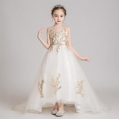 女の子 子供ドレス 結婚式 マキシドレス 人気 発表会 プリンセスドレス 子どもドレス ワンピース 可愛い レースドレス フォーマルドレス チュールスカート