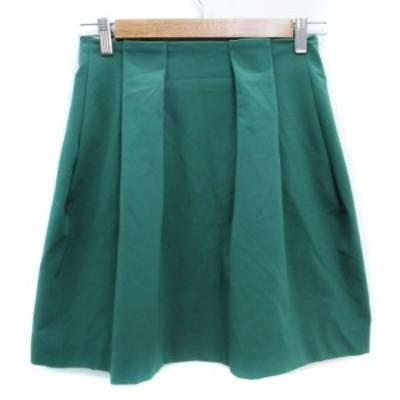 【中古】ロフ loaf スカート フレア ミニ丈 1 緑 グリーン /FF46 レディース