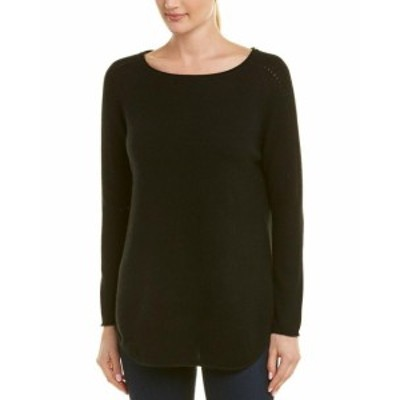 IN Cashmere インカシミア ファッション ドレス In Cashmere Womens Incashmere Boatneck Cashmere Tunic S Black