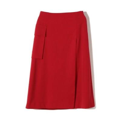 SHIPS for women/シップスウィメン PrimaryNavyLabel:ウールカラースカート レッド 38