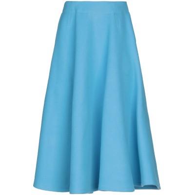 COURREGES 7分丈スカート スカイブルー 36 バージンウール 75% / ナイロン 25% / アセテート / キュプラ 7分丈スカート