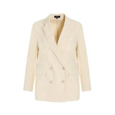 THEORY/セオリー White Double-breasted linen blazer jacket レディース 春夏2021 L0203105Y0D ju