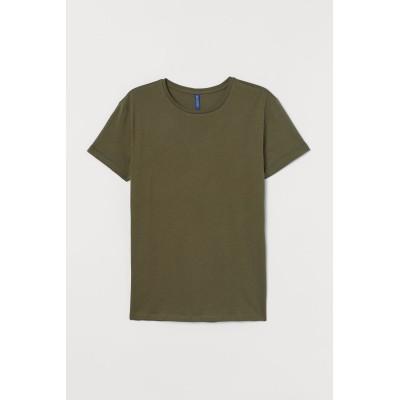 H&M - コットンTシャツ - グリーン