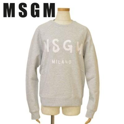 スウェットトレーナー MSGM エムエスジーエム レディース ロゴ emm19w502 2741MDM89 94 LIGHT GRAY MELANGE ライトグレー