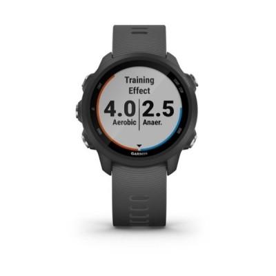 ガーミン 腕時計 アクセサリー レディース Unisex Forerunner 245 Black Silicone Strap Smart Watch 30.4mm Black