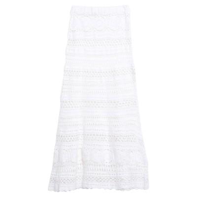 POUPETTE ST BARTH 7分丈スカート ホワイト XS コットン 100% 7分丈スカート
