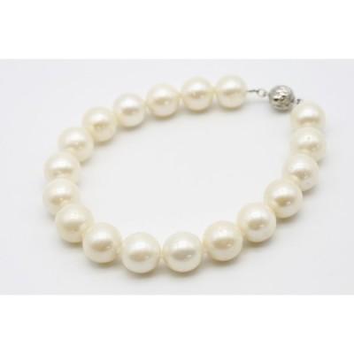 南洋白蝶真珠パールブレスレット 10mm ホワイトカラー