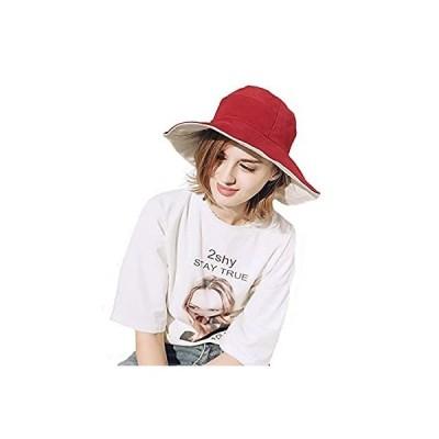 FADVES UVカット 帽子 日除け帽子 レディース つば広 折り畳み可 取り外すあご紐 紫外線対策 両面用 漁夫帽 軽量 無地 オールシーズン 旅