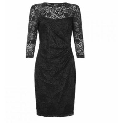 ユミ Yumi レディース ワンピース ワンピース・ドレス Floral Lace Dress Black