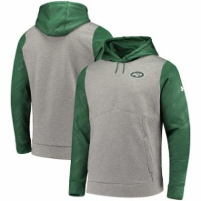 Under Armour アンダー アーマー スポーツ用品  Under Armour New York Jets Gray/Green Combine Authentic Novelty Pullo