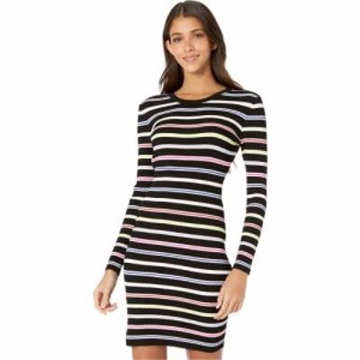 ミリー Milly レディース ワンピース ワンピース・ドレス Multi Stripe Long Sleeve Dress Black Multi