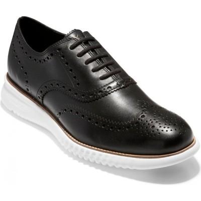 コールハーン COLE HAAN メンズ 革靴・ビジネスシューズ ウイングチップ シューズ・靴 2.Zerogrand Wingtip Oxford Black Leather/Optic White