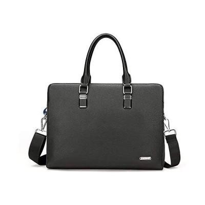 英の濤 カバン メンズバッグ 本革の材質 牛革 ビジネスバッグ 軽い 正式な 個性的な 立ちやすい 自立 就職 通勤 仕事 (ブラック)