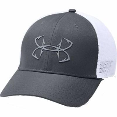 アンダーアーマー Under Armour メンズ キャップ トラッカーハット 帽子 Fish Hunter Trucker Hat Pitch Gray/White/Steel