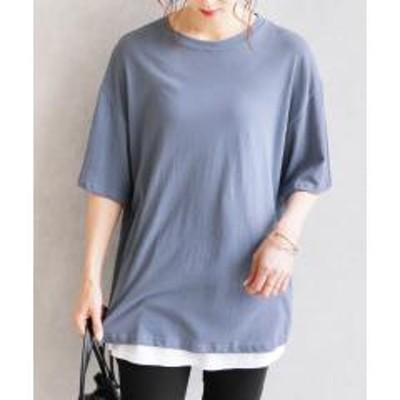 レカビンテージ風バックロゴプリントTシャツ(200411) 【お取り寄せ商品】