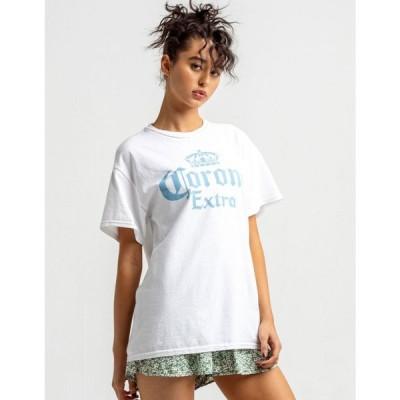 リップルジャンクション RIPPLE JUNCTION レディース Tシャツ トップス Corona Oversized Tee WHITE