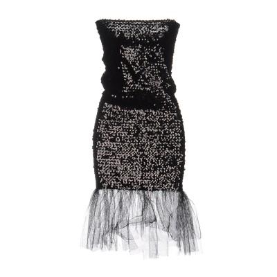 SAINT LAURENT ミニワンピース&ドレス ブラック 38 コットン 100% ミニワンピース&ドレス