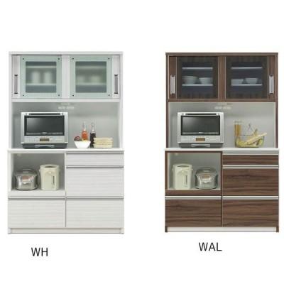 オープン食器棚 120cm幅 引き戸 完成品 レンジボード 国産 開梱設置 ホワイトは7月上旬入荷予定