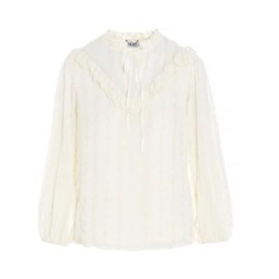 LIU JO/リュー ジョー White Tone-on-tone embroidery blouse レディース 春夏2021 WA1237T596010701 ju