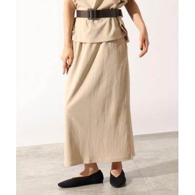 OZOC(オゾック) 【洗える】ロングナロースカート