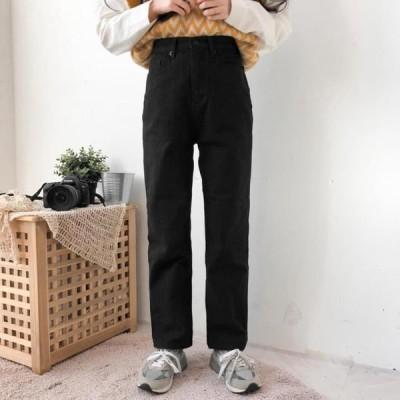 レディース パンツ 2500 Fleece-lined basic cotton pants