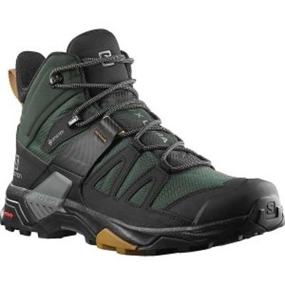 サロモン メンズ ブーツ・レインブーツ シューズ Salomon Men's X Ultra 4 Mid GTX Shoe Green Gables / Black / Cumin