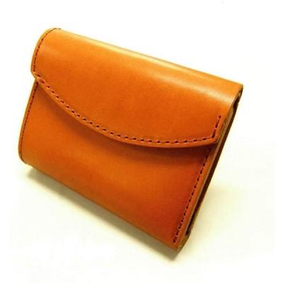 enPremiumLife 栃木レザー 三つ折り ミニウォレット 財布 日本製 T0285 (ブラウン)