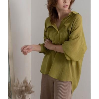 rectangle / オーバーサイズシアーシャツ WOMEN トップス > シャツ/ブラウス