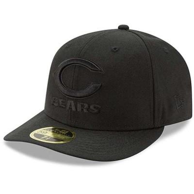 ニューエラ メンズ 帽子 アクセサリー Chicago Bears New Era Black On Black Low Profile 59FIFTY Fitted Hat
