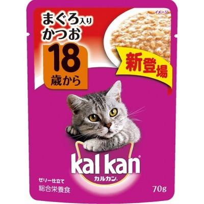 マースジャパンカルカン パウチ 18歳から まぐろ入りかつお 70g 猫 フード ウェット レトルト パウチ