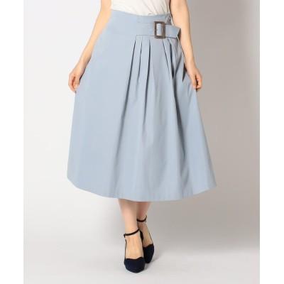 (MISCH MASCH/ミッシュマッシュ)バックル付きスカート/レディース ライトブルー