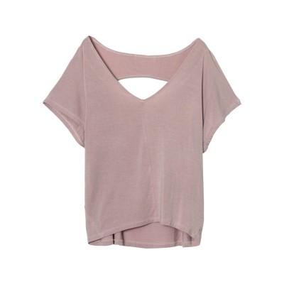 リエディ Re:EDIT [冷感][抗菌除菌][人と地球にやさしい][お家で洗える]ソイビーンバックオープンTシャツ (グレージュ)