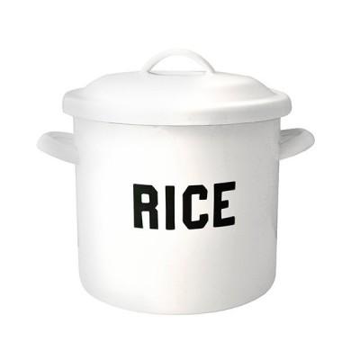 THE OLD FARMHOUSE オールドファームハウス ホーロー米びつ ライス缶 ライスストッカー RICE 5kg 9リットル 保存容器 食器 おしゃれ かわいい シンプル