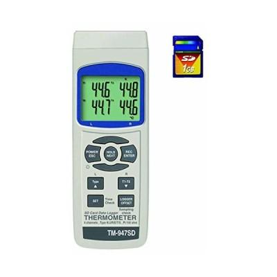 マザーツール SDカード搭載 4チャンネルデジタル温度計 TM-947SD