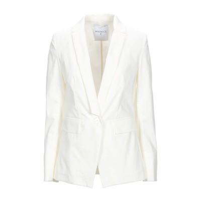 BEATRICE .b テーラードジャケット ホワイト 42 コットン 64% / ナイロン 32% / ポリウレタン 4% テーラードジャケット