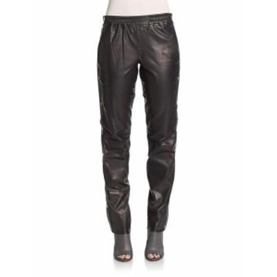 レディース パンツ Public Side-Snap Leather Pants