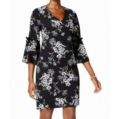 Jessica Howard ジェシカハワード ファッション ドレス Jessica Howard NEW Black Womens Size 4P Petite Floral Shift Dress