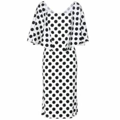 ドルチェandガッバーナ Dolce and Gabbana レディース ワンピース ワンピース・ドレス Polka-dot stretch-silk dress Pois Nero. Fondo B