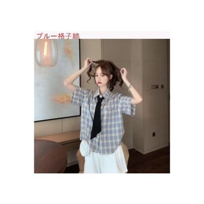 【送料無料】少女 感 着用 掛ける シャツ デザイン 小 夏 フレンチ タイプ カレッジ風 | 364331_A63195-4239359