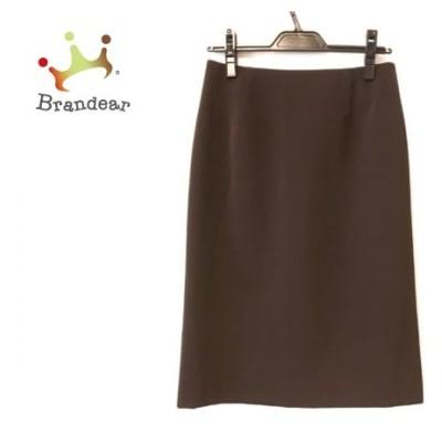 エムズグレイシー M'S GRACY スカート サイズ40 M レディース ダークブラウン 新着 20200610