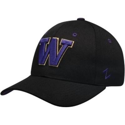 ゼファー メンズ 帽子 アクセサリー Washington Huskies Zephyr Fitted Hat Black
