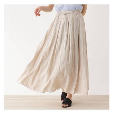 【シューラルー/SHOO・LA・RUE】 【M-LL】ハイウエストギャザーマキシスカート