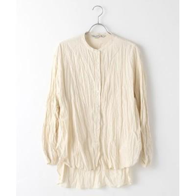 MARcourt/マーコート MidiUmi ラウンドヘムバンドカラーシャツ kinari FREE
