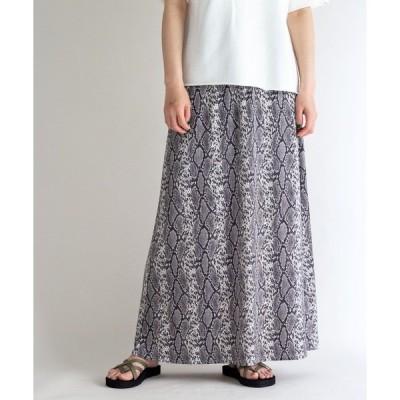スカート プリントロングスカート