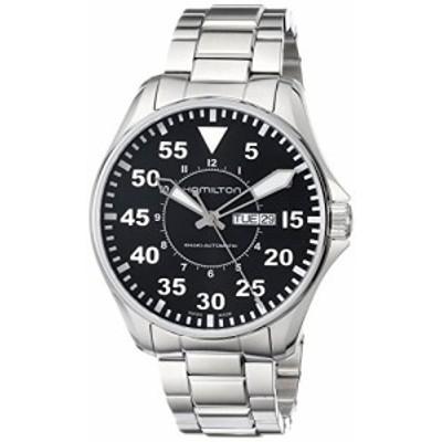 腕時計 ハミルトン メンズ Hamilton Men's H64715135 Khaki King Pilot Black Day Date Dial Watch
