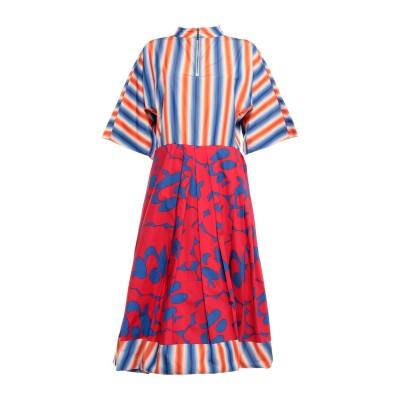 マルニ MARNI 7分丈ワンピース・ドレス ブルー 40 コットン 100% 7分丈ワンピース・ドレス