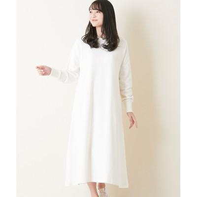 【earth music&ecology】。裏毛ロングワンピース (ワンピース)Dress